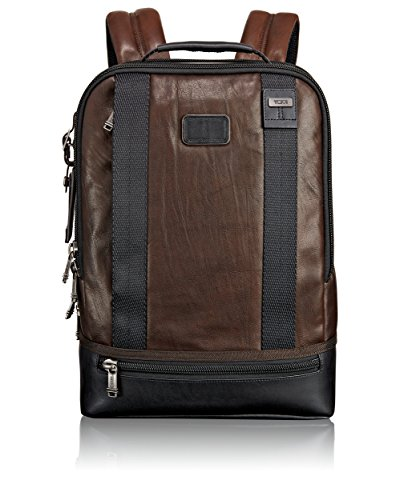 Tumi Alpha Bravo Dover Leather Backpack, Dark Brown by Tumi