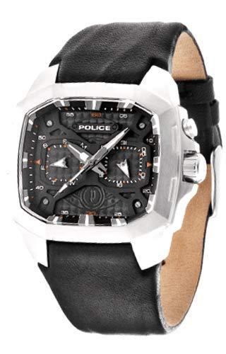 Police PL.13929JS/02 - Reloj de pulsera hombre, piel, color negro