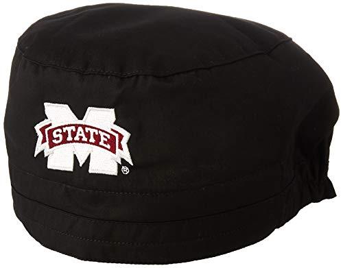 WonderWink Men's Mississippi State University Scrub Cap, Black, 1SZ