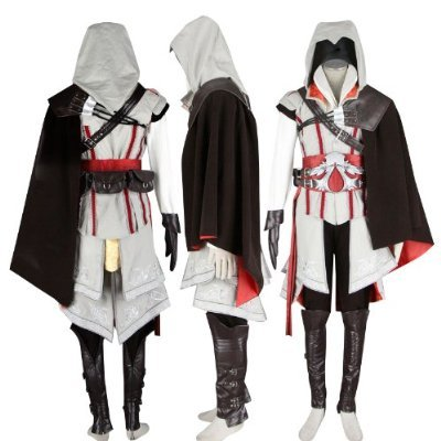 Assassin's Creed 2 II Ezio cosplay Kostüm halloween Kostüm Frauens,Größe L:(160-165cm,50-55 kg)