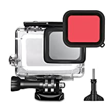 TEKCAM Action Camera Waterproof Case Protective Housing with Red Filter for Gopro HERO 6 5 Black Underwater Diving Action Sports Camera
