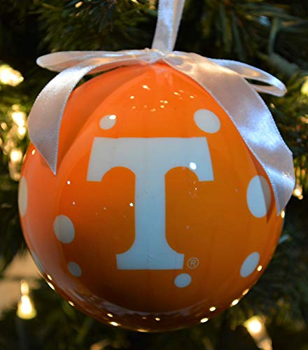 NCAA Tennessee Volunteers Polka Dot Ball Ornament