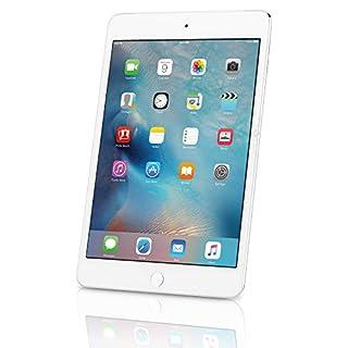 Apple iPad Mini 4, 128GB, Silver - WiFi + Cellular (Renewed)