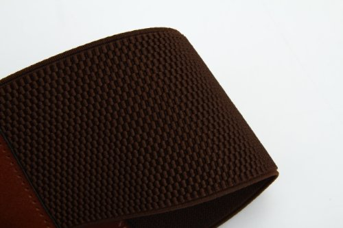 Women's Korean Style Simple Fashion Leather Wide Weave Belt (Brown) by RUI (Image #7)