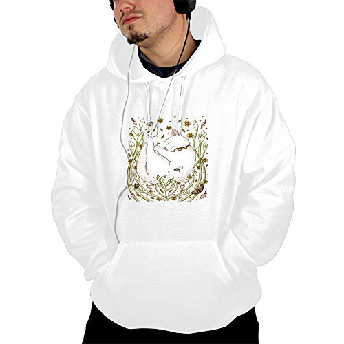 Men's Butterflies and Bees Hoodie Novelty Cool Pullover Hooded Sweatshirt Hoodie S-3XL