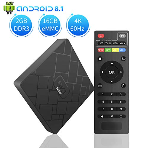 Android 8.1 TV BOX, Aoxun HK1 MINI 2GB RAM 16GB ROM Amlogic Quad Core A53 processor 64 bits ()