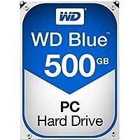 Western Digital BLUE 500GB 5400~7200RPM (BLUE) 16MB~64MB Cache SATA II-SATAIII (3.0GB/s~6.0GB/S) 3.5HDD for CCTV, DVR, RAID, NAS, PC, MAC and SATA Applications.