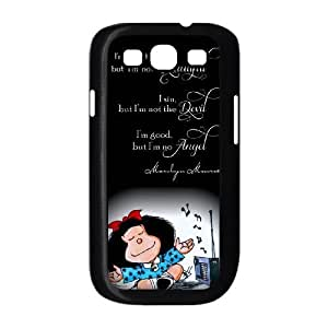 Mafalda C5M5Cl galaxia S3 9300 Funda caja del teléfono celular Negro P1U1CD bricolaje funda caja personalizada