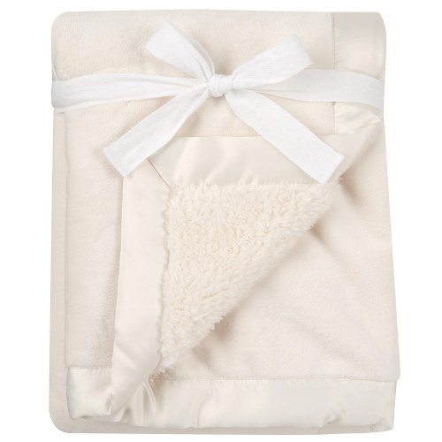 BabiesRUs Deluxe Satin Trim Blanket - Cream by Babies R Us