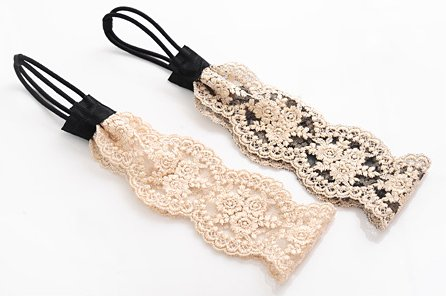coco Jewelry(ココジュエリー)刺繍レースデザインヘアバンド 1,250円