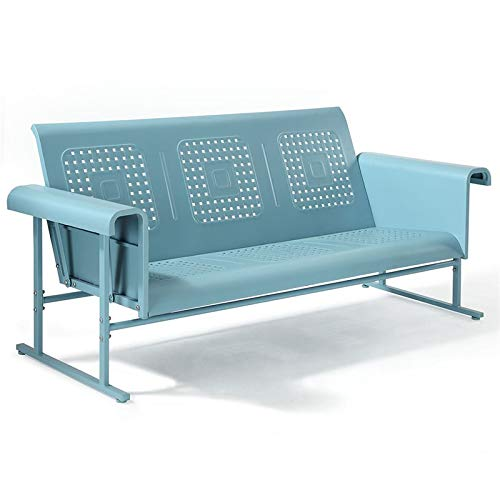 Crosley Furniture Veranda Patio Gliding Sofa in Caribbean Blue