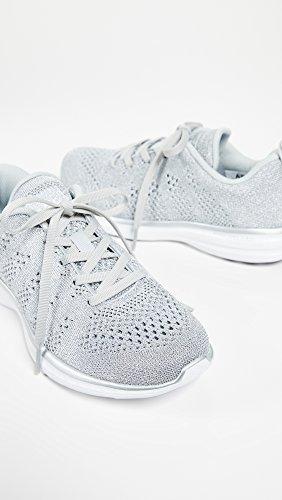APL: Athletic Propulsion Labs Womens Techloom Pro Sneakers Metallic Silver/White spYlE6u6d