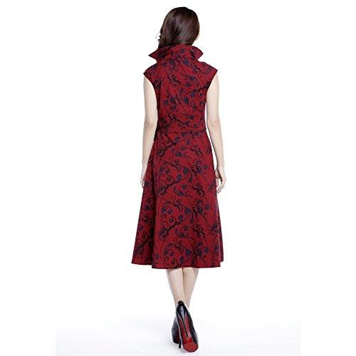 Print 44 Seite 36 46 54 42 60 Ärmelloses 50 56 mit Chic Star Größen Kleid rotes Gothic 52 UK 58 38 40 Bogen HZH0PIq