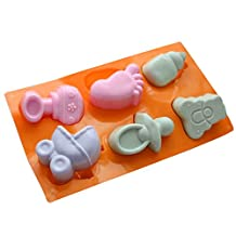 C-Pioneer Silicone Baby Shower Fondant Mould Cookie Cupcake Decorating Baking Mold Sugarcraft Tool
