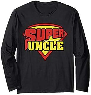 Birthday Gift 'Super Uncle Superhero Uncle' Hilarous Uncle Gift  Long Sleeve/Shirt