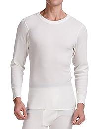 CYZ Men's Long Sleeve Mid Weight Waffle Thermal Crew Top or Long John Set