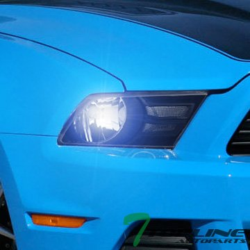 Topline Autopart 8000K HID Bi-Xenon + Black Head Lights Lamps Headlights Corner Turn Signal Blinkers Kit NB 10-14 Ford Mustang 2D Coupe Convertible V6 Premium GT