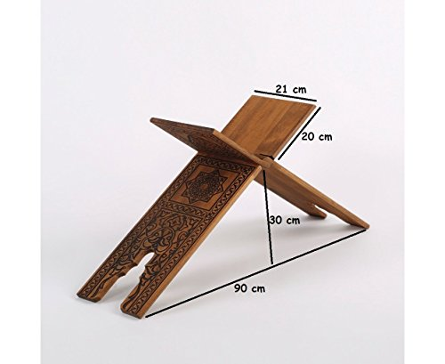 Seljuk Wooden Etched Out Pattern Lectern 75x21 cm by Serra Office