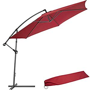 Tectake 3 5m sombrilla parasol de aluminio para terraza for Sombrillas jardin amazon