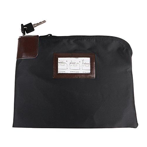 Eagle Locking Security Money Bag, Black, 10.82