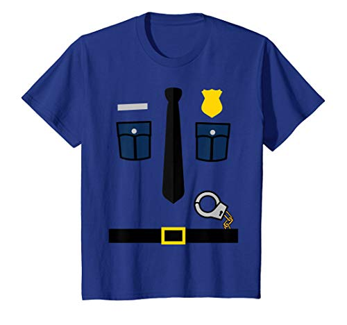 Kids Police Uniform - Boys and Girls Halloween Costume T-Shirt