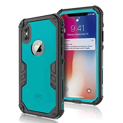 (Meritcase iPhone X/Xs Waterproof Case, iPhone X Full Protection IP 68 15M Underwater 3M Dropproof Snowproof Dirtyproof Dustproof Heavy Duty Rugged Case for Diving Snorkeling Surfing Swimming Cycling)