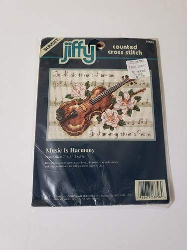 Brand New Jiffy Music Is Harmony Mini Counted Cross Stitch Kit-7