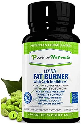 Amazon Com Power By Naturals Leptin Fat Burner With Carb Inhibitor Dr Formulated Leptin Resistance Supplements For Weight Loss Appetite Control Mental Focus Carb Blocker Best For Women Men 60