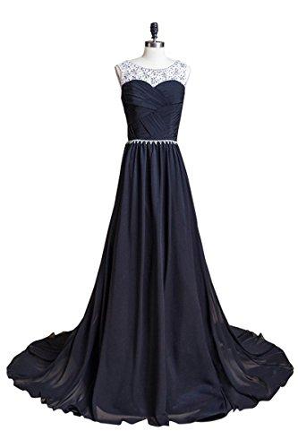 Favebridal 2015 Women's Sequins Long Evening Formal Party Dresses SD184BK-US8