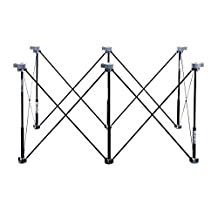 K6S Centipede Tool 6 Strut Sawhorse & Support Kit Includes 6 x-Cups, 6 Non-Slips, 2 Quick Clamps, 2 Hooks & Carry Storage Bag,