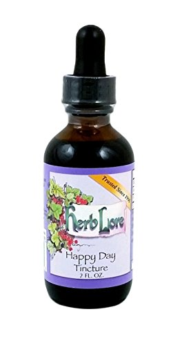 Happy Day Flower Essence and Rose Tincture - 2 oz - Herb Lore - Includes Elm, Gentian, Gorse, Larch, Mustard, Sweet Chestnut, and Wild Rose Bach Flower Remedies for Positive Mood Support ()