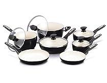 GreenPan Rio 12pc Ceramic Non-Stick Cookware Set, Black