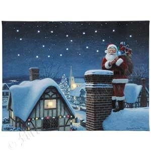 Mr. Christmas Gold Label Collection Santa Illuminated Canvas -