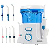 Aiyabrush Water Flosser 600ML Capacity Dental Oral Irrigator with 7 Multifunctional Tips Leak-Proof Quiet Design (50db)