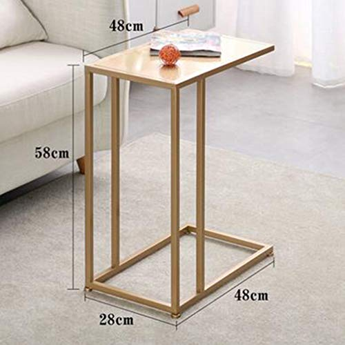 Bedside table GJM Shop Flower Rack Iron Mini Small Side Table Living Room/Sofa Display Stand Flower Pot Holder Flower Stand (Color : - Mini Oak Iron Holder