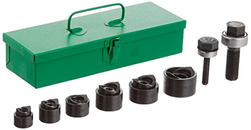 - Greenlee 39860 Standard Round Manual Industrial Punch Kit, 3/4-Inch to 1-1/2-Inch Hole Size