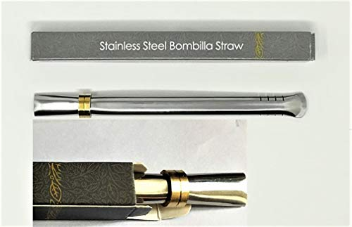 """Novomates [NEW] Easy Clean Yerba Mate Bombilla Straw Gourd Drinking Filter Straw - Mate Straw Food-Grade Stainless Steel Straw - 6.2"""" (15.8cm) Long"""