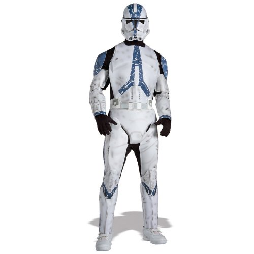 Star Wars Men's Deluxe Clone Trooper Costume (XL)