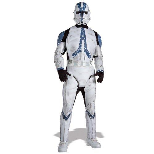 Star Wars Men's Deluxe Clone Trooper Costume (XL) -