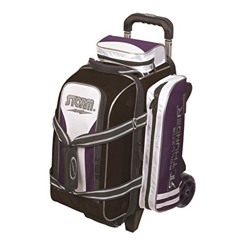 2 Ball Rolling Thunder Bowling Bag Purple/Black/White