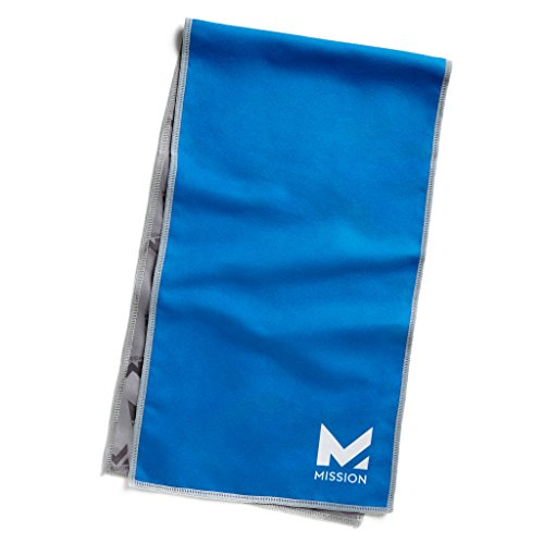 Mission HydroActive On-The-Go Small Cooling Towel, Mission Blue, 8