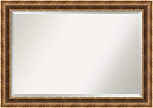 Amanti Art Framed Mirrors for Wall   Manhattan Bronze Mirror for Wall -