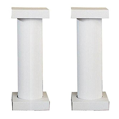 4' Cardboard White Fluted Pedestal, Set of (Wedding Columns)