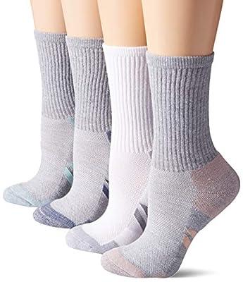 Amazon Essentials Women's 6-Pack Performance Cotton Cushioned Athletic Crew Socks