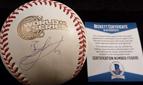 Bobby Jenks Autographed Baseball - Beckett bas 2005 World Series Game 59295 - Beckett Authentication