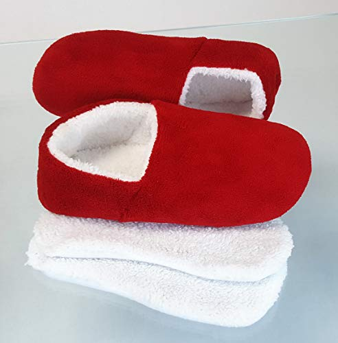 Women for Microwaveable Heated Red Snookiz Slippers Snqx8Iww7H