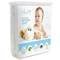 MILLIARD Almohadilla protectora acolchada, impermeable para colchón para niños pequeños y acolchada, cubierta ajustada hipoalergénica de primera calidad con acolchado adicional 28x52x6