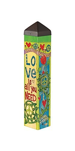 Studio M PL1074 Garden Art Pole, Love Is All You Need (Love Pole)