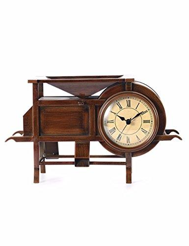 SUNQIAN-European style of the ancient windmill clock, living room clock, decoration double mute clocks, nostalgic iron clock quartz clock by SUNQIAN
