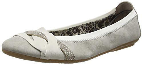 Rieker 41461 Women Closed Toe, Damen Geschlossene Ballerinas, Grau (grey/ice/fango-silver/40), 39 EU